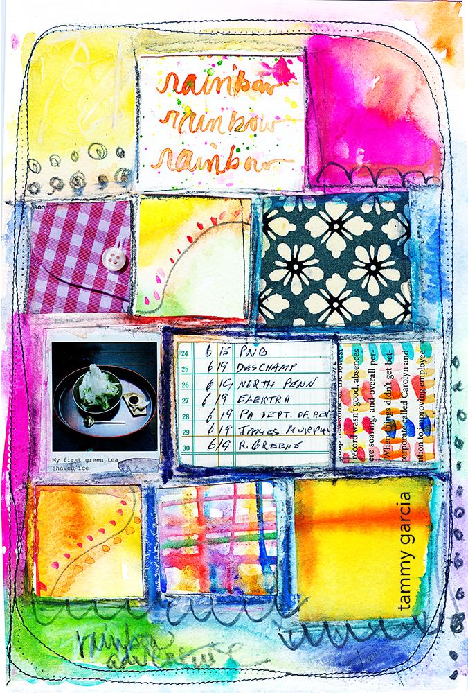 A sweet collage idea. Tammy Garcia https://daisyyellowart.com
