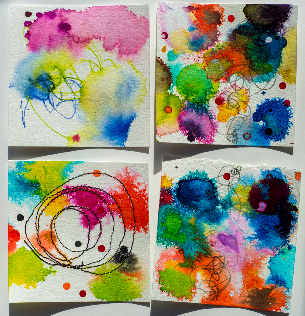 Abstracts in ink by Tammy Garcia https://daisyyellowart.com #365somethings2018