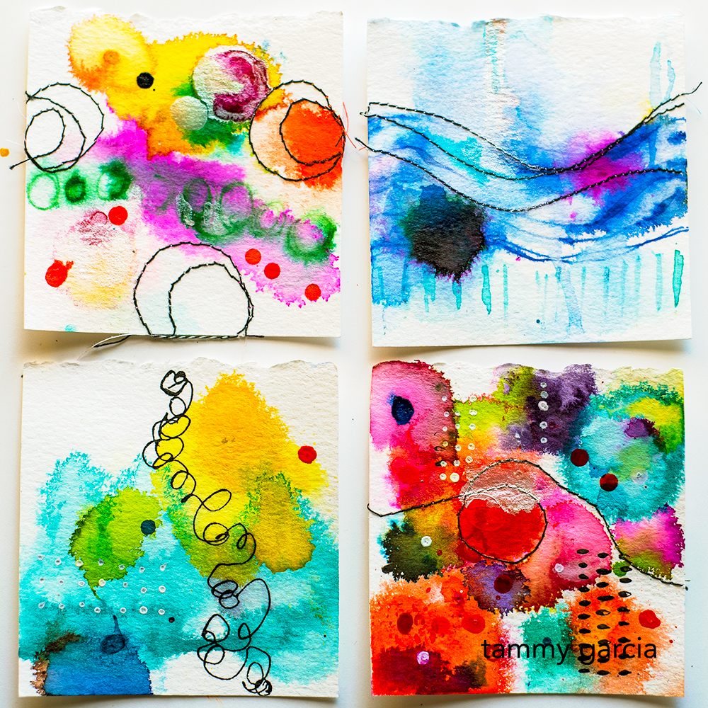 365 inked abstracts by Tammy Garcia https://daisyyellowart.com