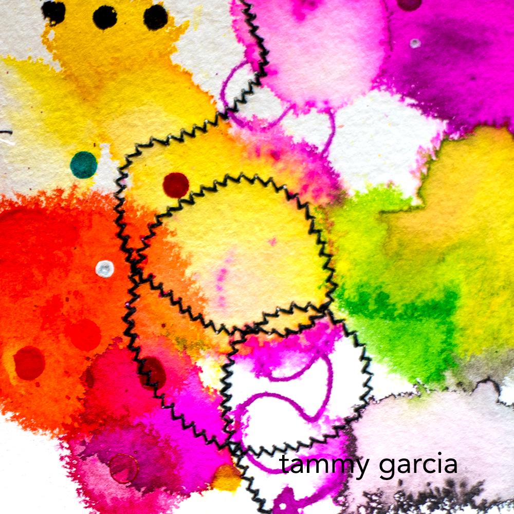 Mixed media art by Tammy Garcia https://daisyyellowart.com