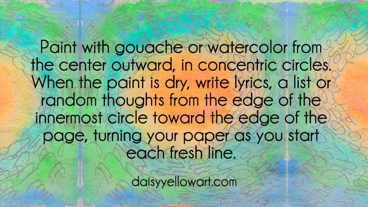 Journaling on gouache by Tammy Garcia https://daisyyellowart.com #tutorial