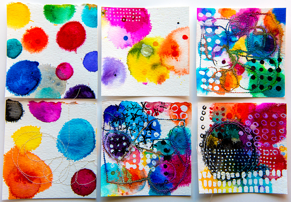 Inked cards by Tammy Garcia https://daisyyellowart.com