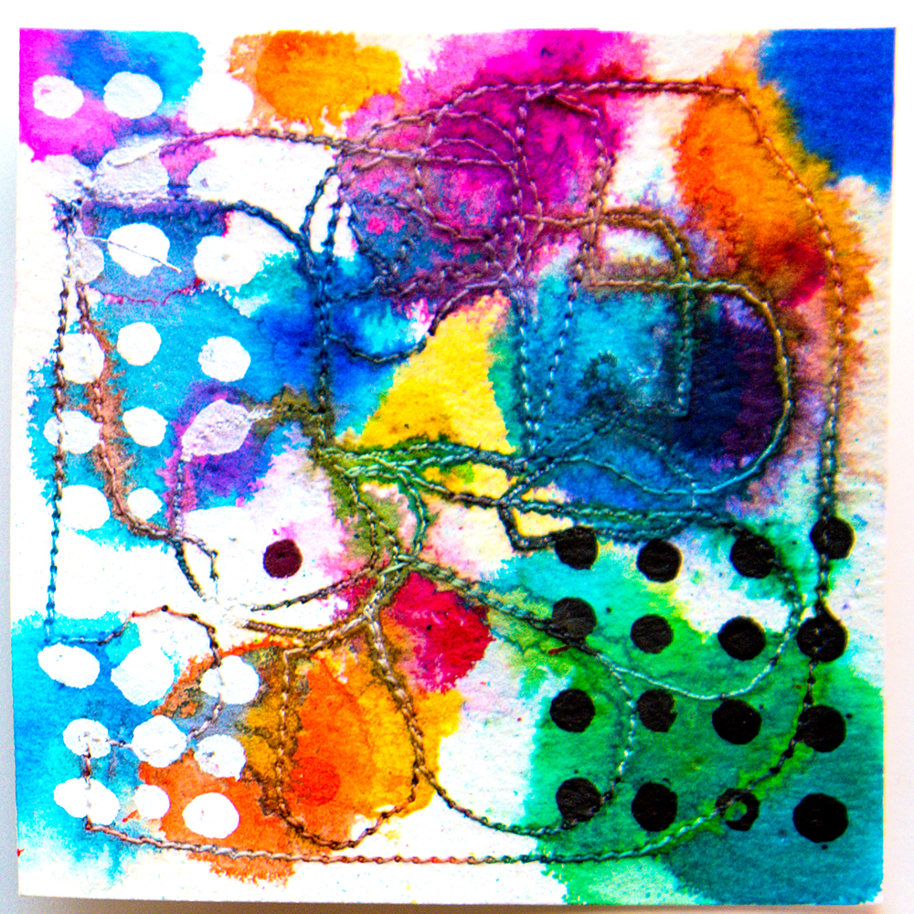 "3x3"" ink by Tammy Garcia https://daisyyellowart.com"