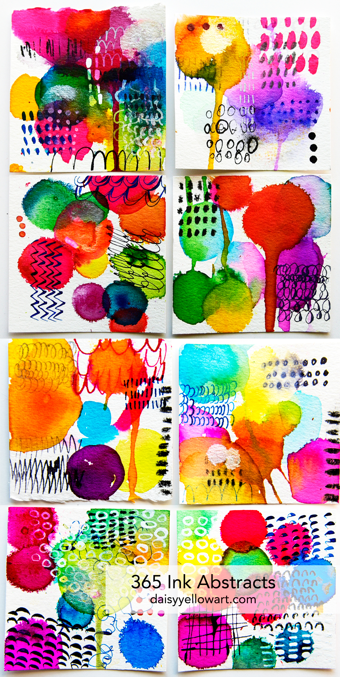 365 ink abstracts by Tammy Garcia https://daisyyellowart.com