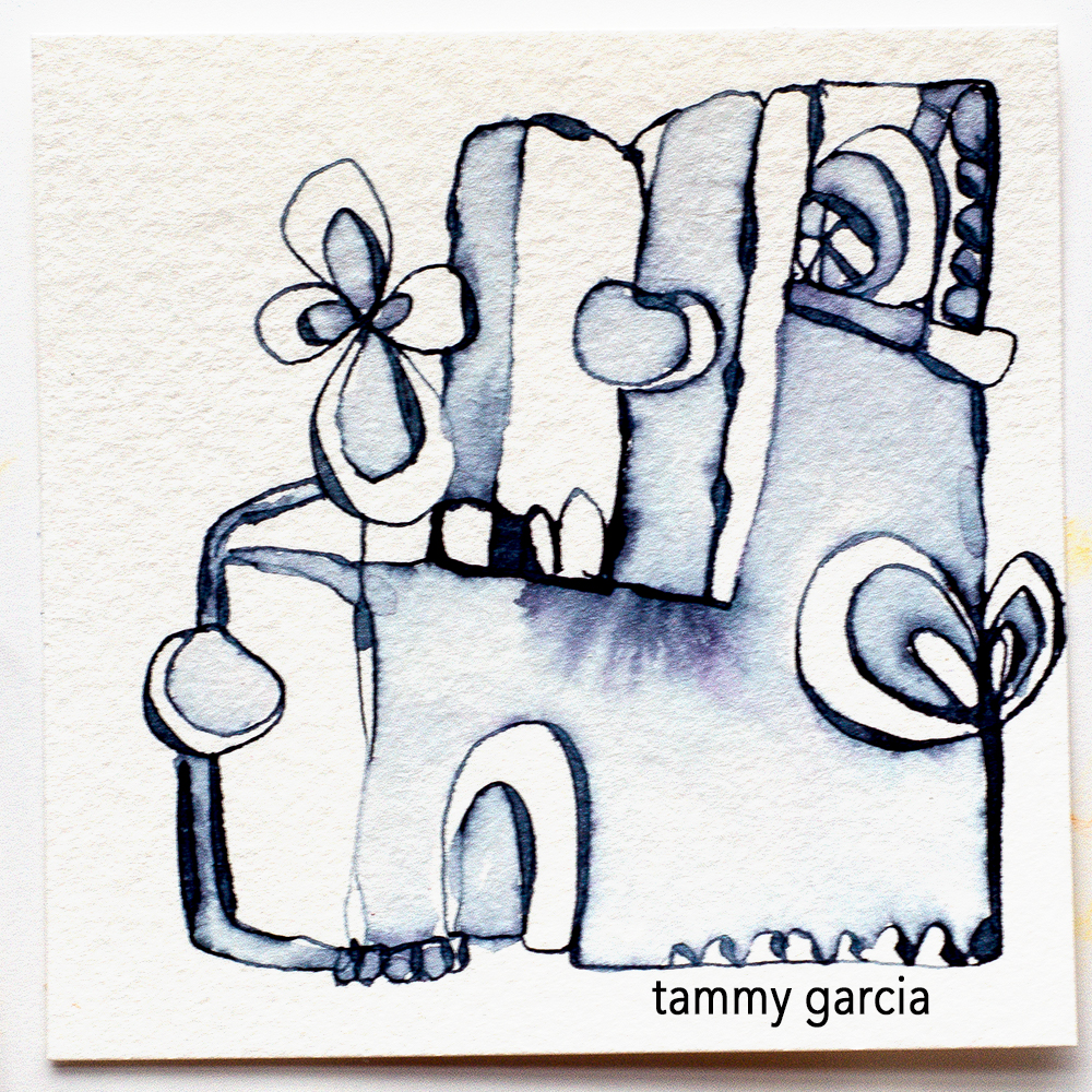 Inked abstracts by Tammy Garcia https://daisyyellowart.com