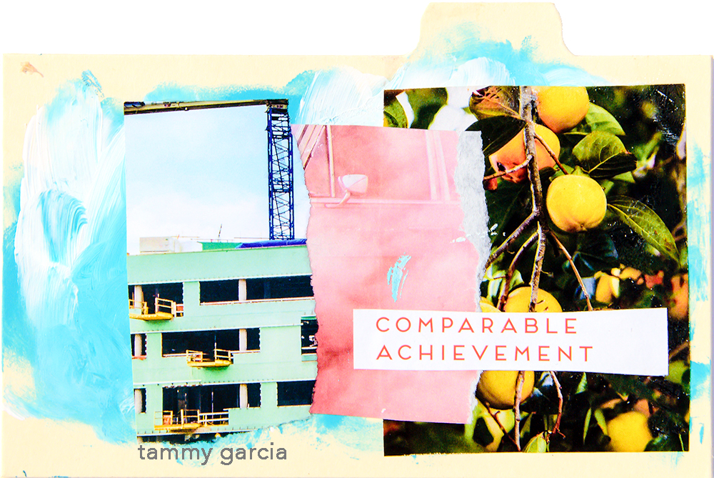 Mixed media collage by Tammy Garcia https://daisyyellowart.com