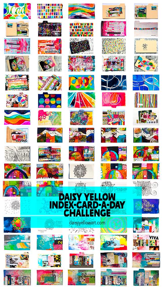 Index-Card-a-Day Challenge https://daisyyellowart.com