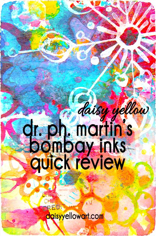 Quick review of Bombay Inks https://daisyyellowart.com