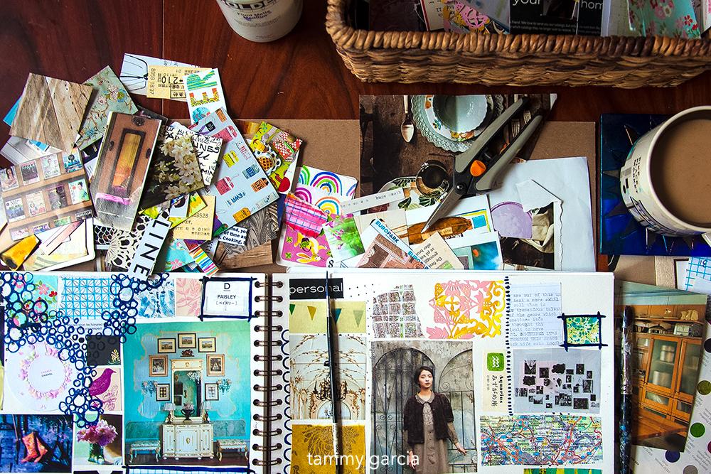 Art journaling by Tammy Garcia https://daisyyellowart.com