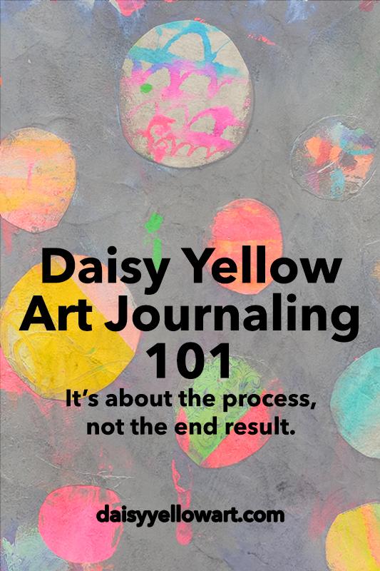 How to start an art journal by Tammy Garcia https://daisyyellowart.com #artjournal