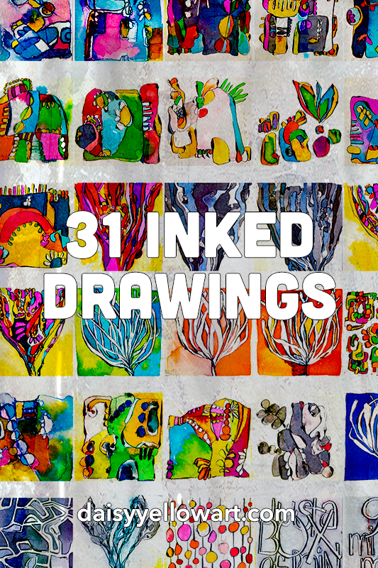 31 Inked Drawings by Tammy Garcia https://daisyyellowart.com #inktober #drawing