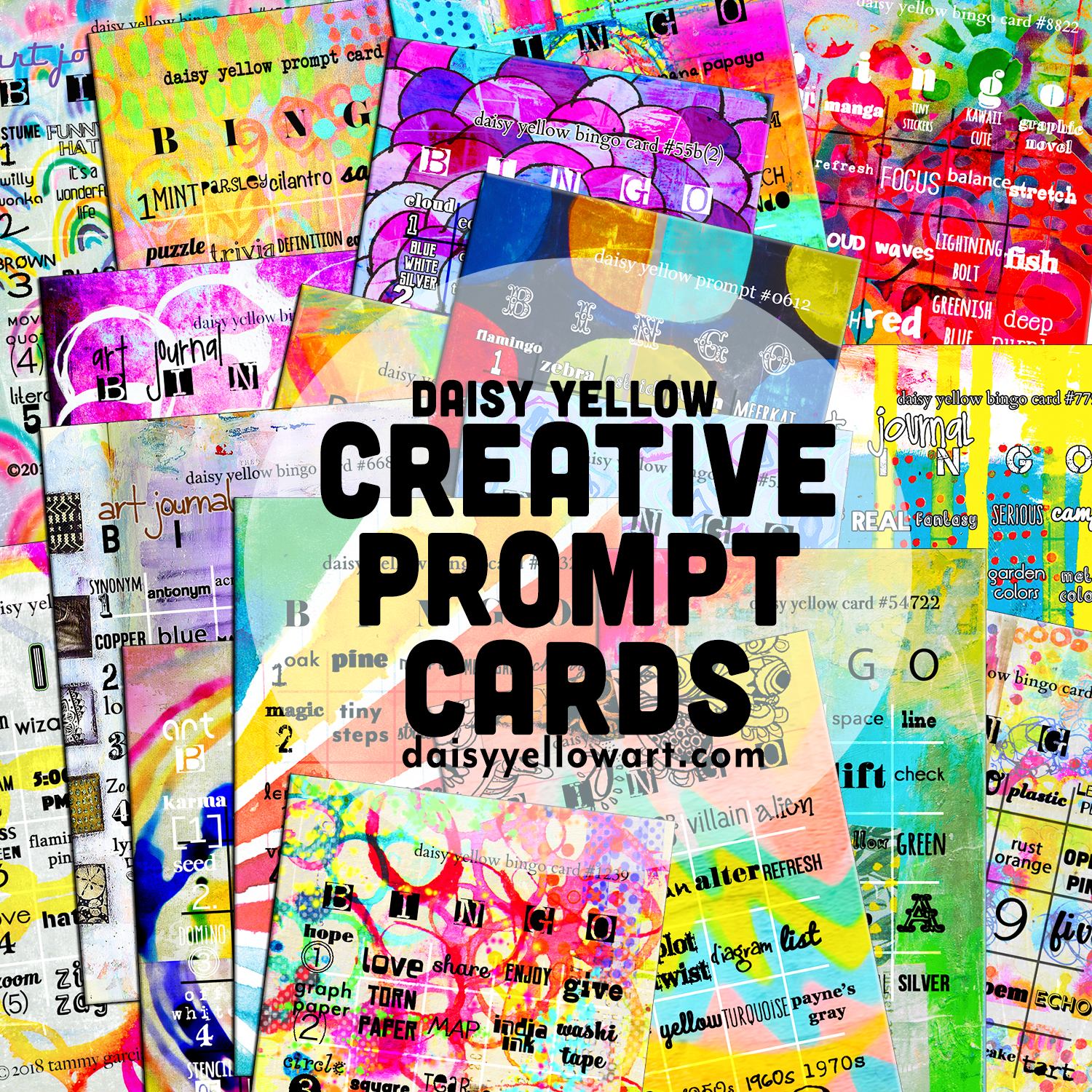 Creative Prompt Cards by Daisy Yellow https://daisyyellowart.com