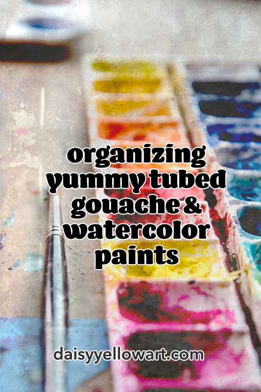 Notes about watercolor vs. gouache! The value of creating color swatches! My process for organizing & documenting tubes of paint!