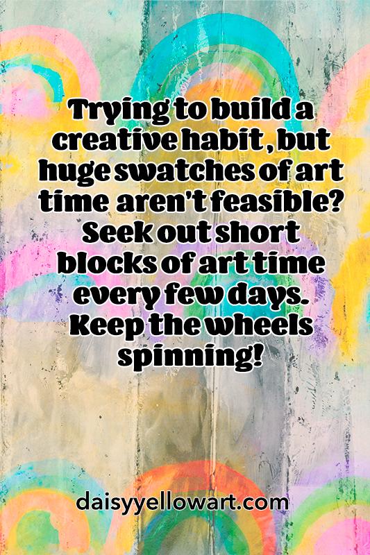 Building a creative habit .