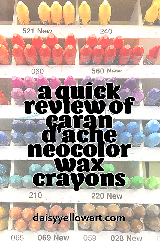 A review of Caran D'Ache Neocolor wax crayons.