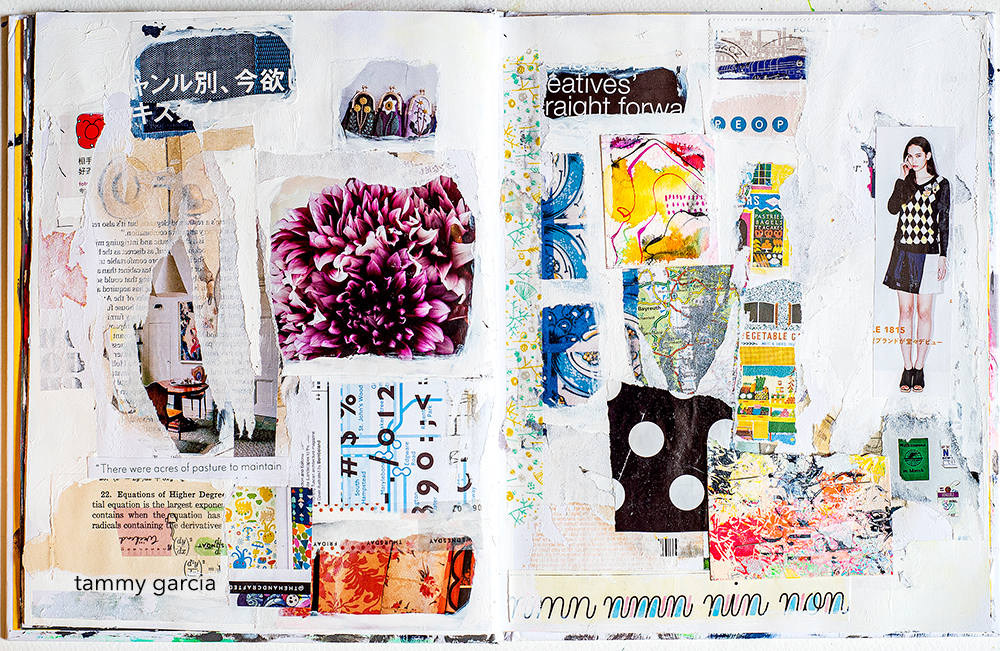 Art journal page by Tammy Garcia.