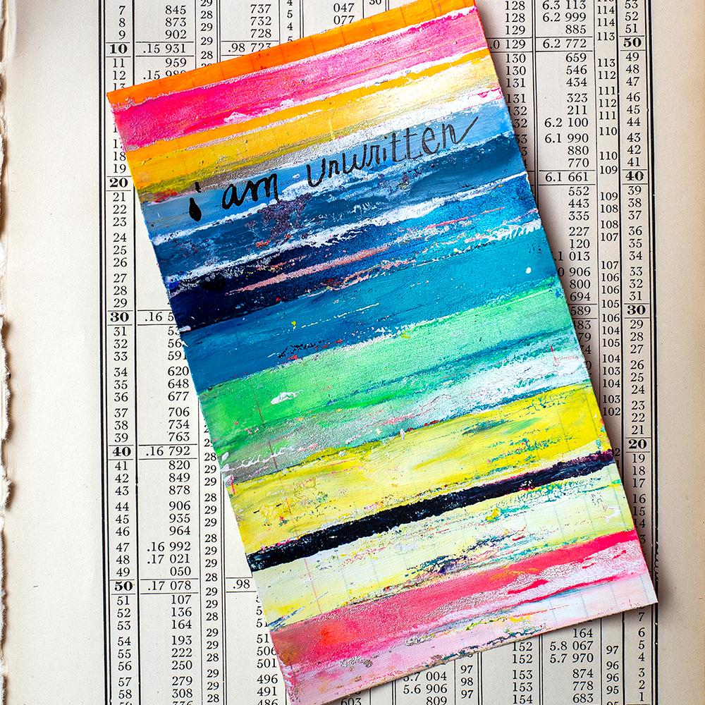 "3x5"" index card, acrylics by Tammy Garcia"