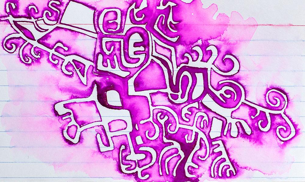 "3x5"" ink on index card by Tammy Garcia"