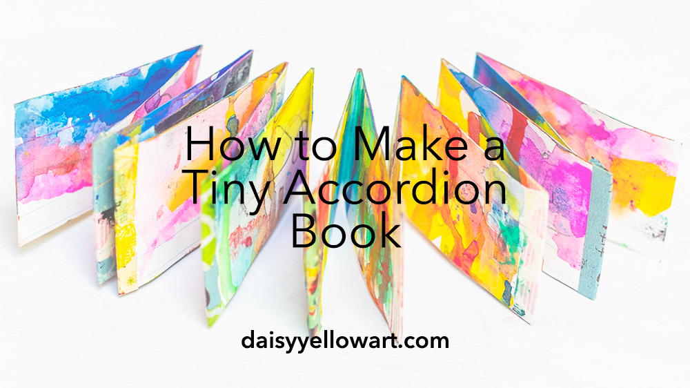 How to make tiny accordion books  [no bookbinding needed]. I show you how to make 2 books — one w/ index cards, one w/ watercolor!