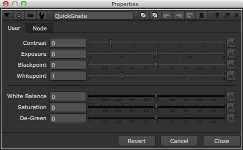 QuickGrade default parameters.