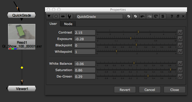 QuickGrade used as an Input Process.