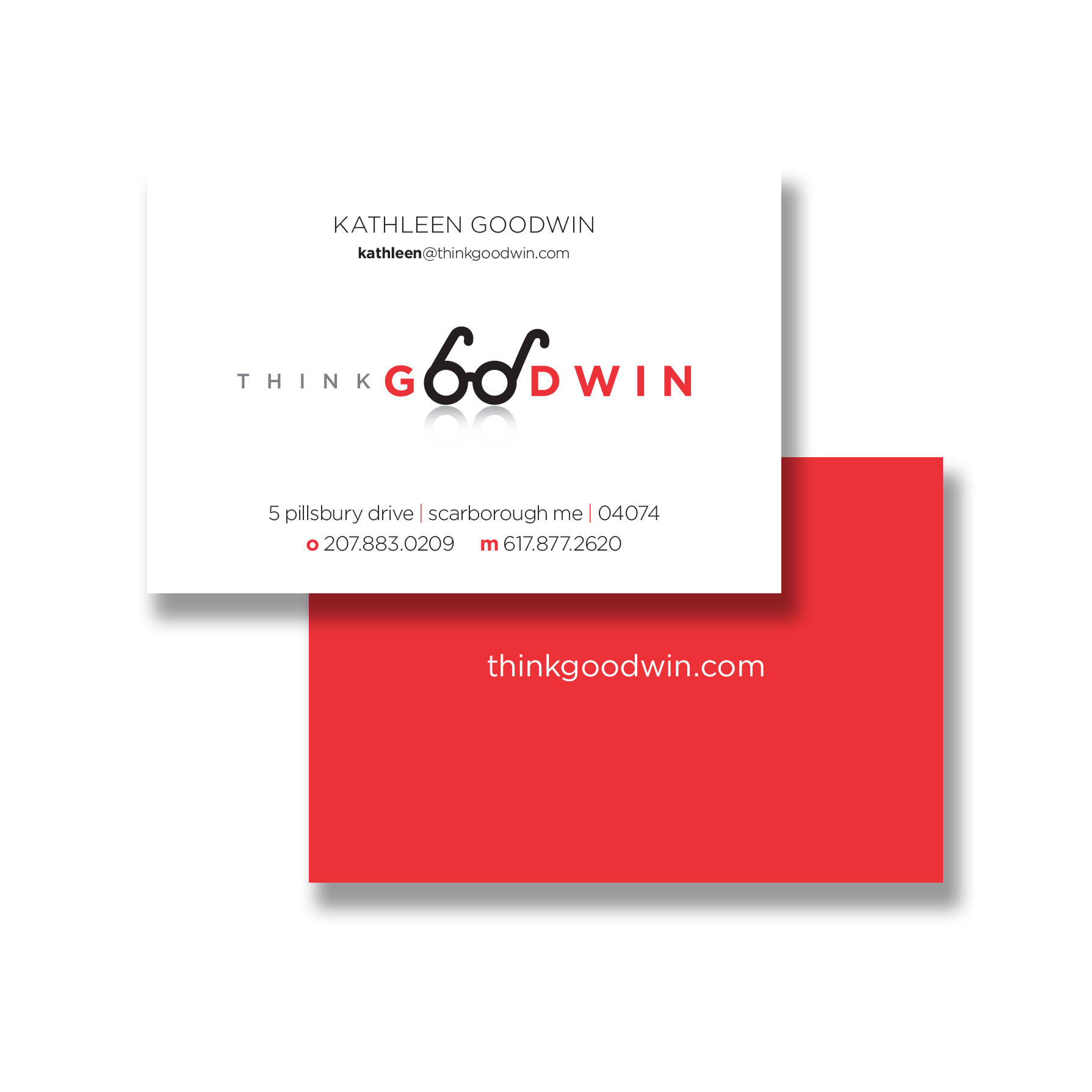 corporate identity + business card design for marketing strategist,  Kathleen Goodwin