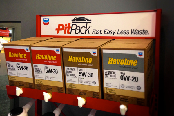 Rack ready for installation in one of Havoline's   xpress lube centers .