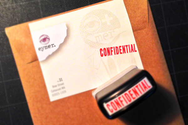 An official looking envelope seal–will hopefully allow the package to land on the desk of the intended party–and NOT a nosy personal assistant!
