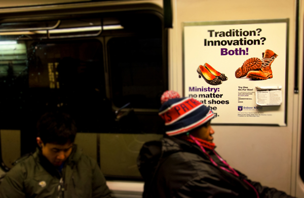 Andover Newton Theological School | Subway Interior Cards | February 2014
