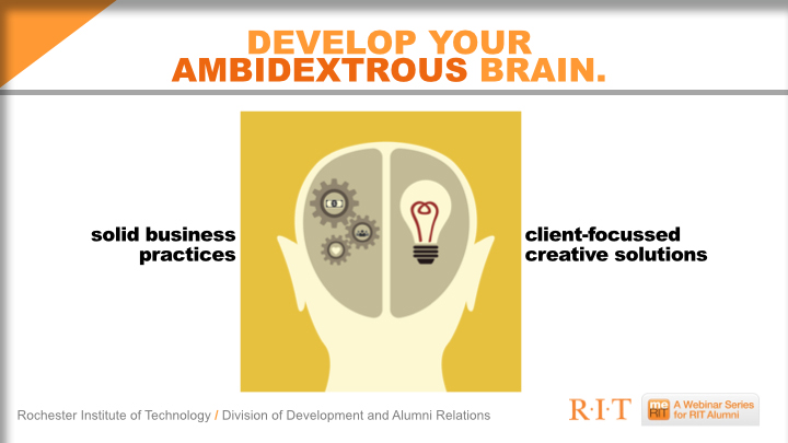 slide 28 | creativity + business require a slightly schizophrenic personality. (but in a good way!)