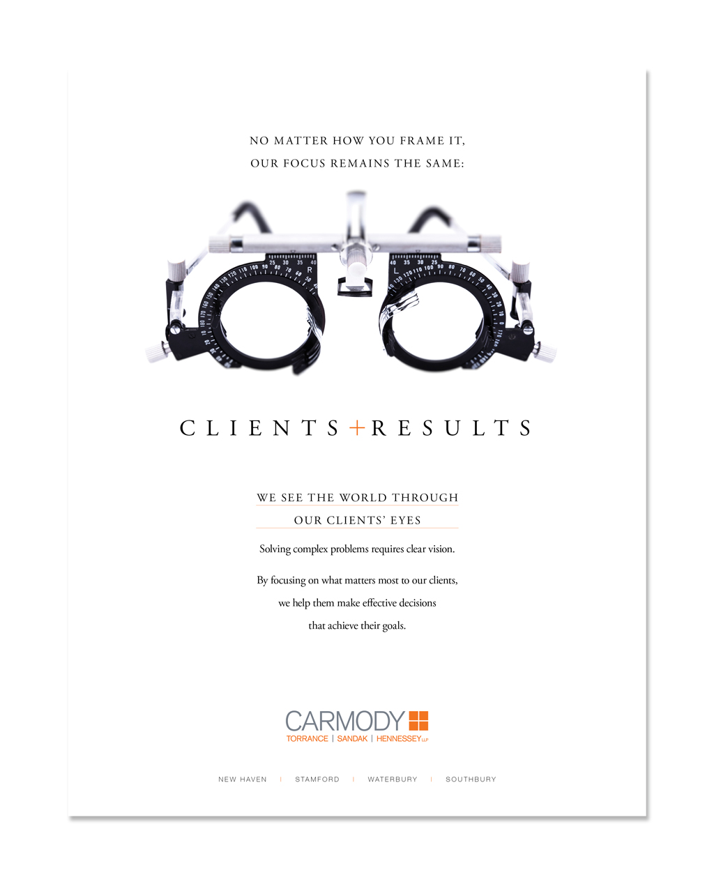 CLIENTS + RESULTS   Print Ad: Carmody Torrance Sandak & Hennessey LLP