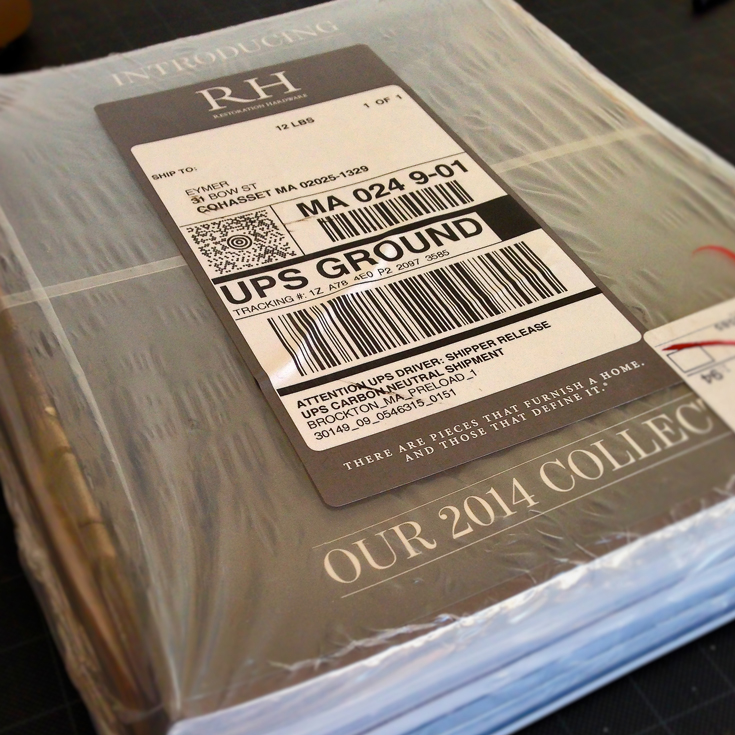 Restoration Hardware and their 12 pounds of catalog