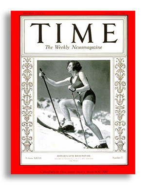 Riefenstahl was an accomplished actress and mountian-climber.