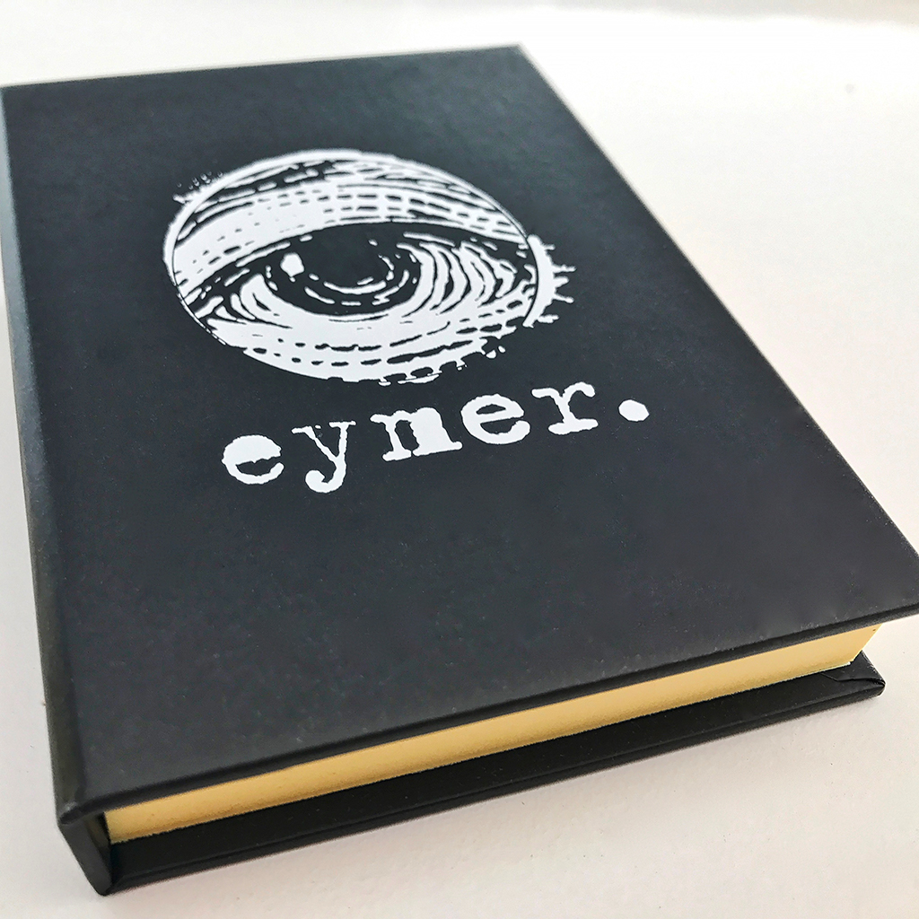 The front cover of the EYMER book of sticky notes (perfect for any professional!)
