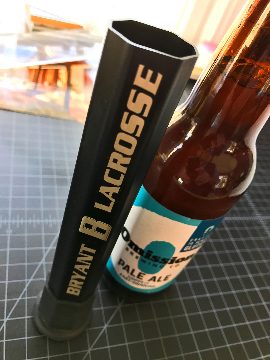 "BottleBro , is an innovative bottle opener constructed from a 7.25"" section of a lacrosse shaft."