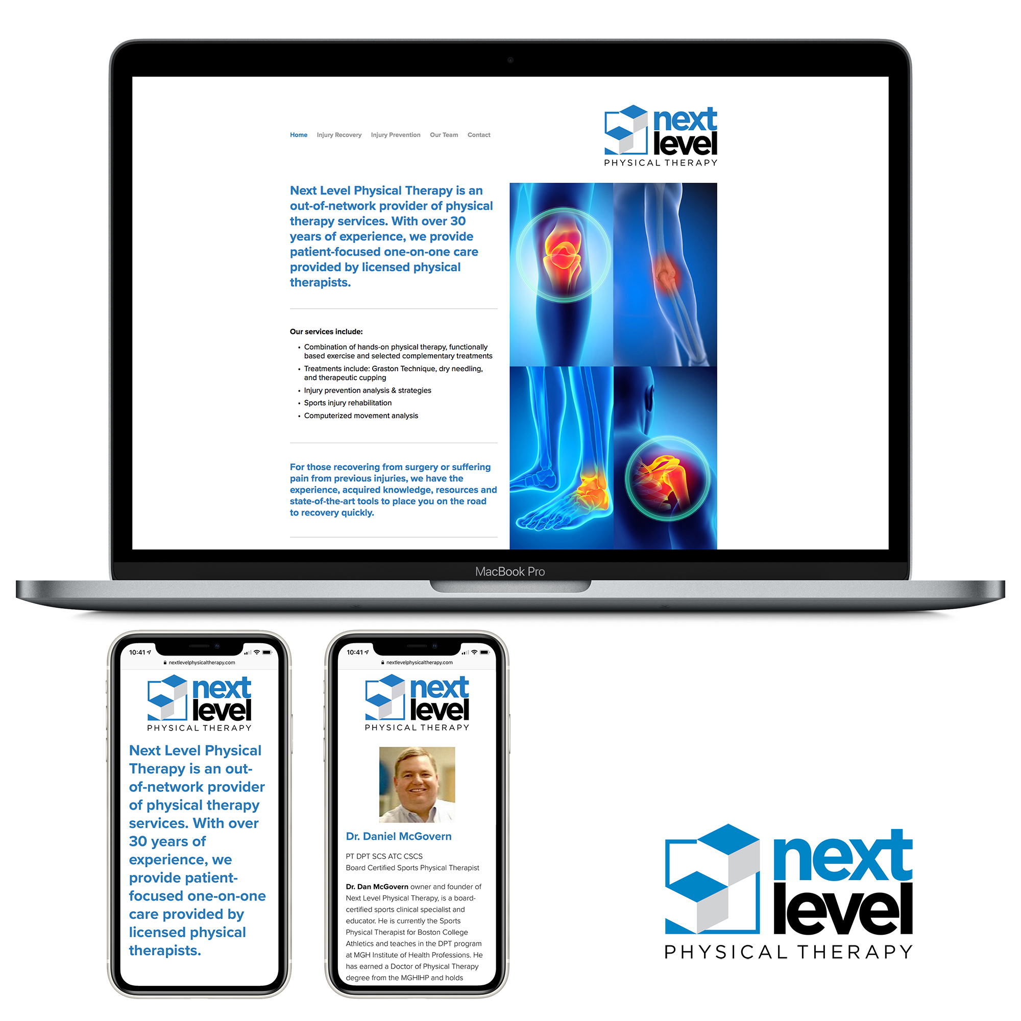 Next Level Physical Therapy's recently launched website