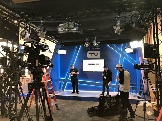 #TBT @Adorama LIVE at @NABShow You can check out Interviews with @philipbloom @davidkleinasc and @miltonladd on AdoramaTV by @framework_productions.  #BTS #AdoramaTV #ConventionCenter #LasVegas #Nevada