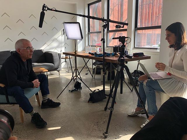 Shot an interview/promo with @robjanoffstudio for @fiverr and @luminoustudios  Lovely man and a master in his field.  #BTS #Fiverr #Luminoustudios #Manhattan #NewYork #NY