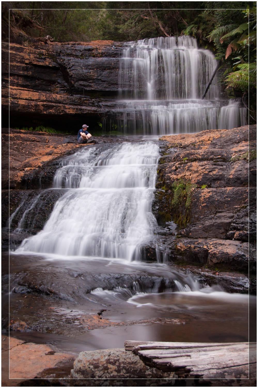 """Up Close with Lady Barron Falls"" Tasmania, Australia"