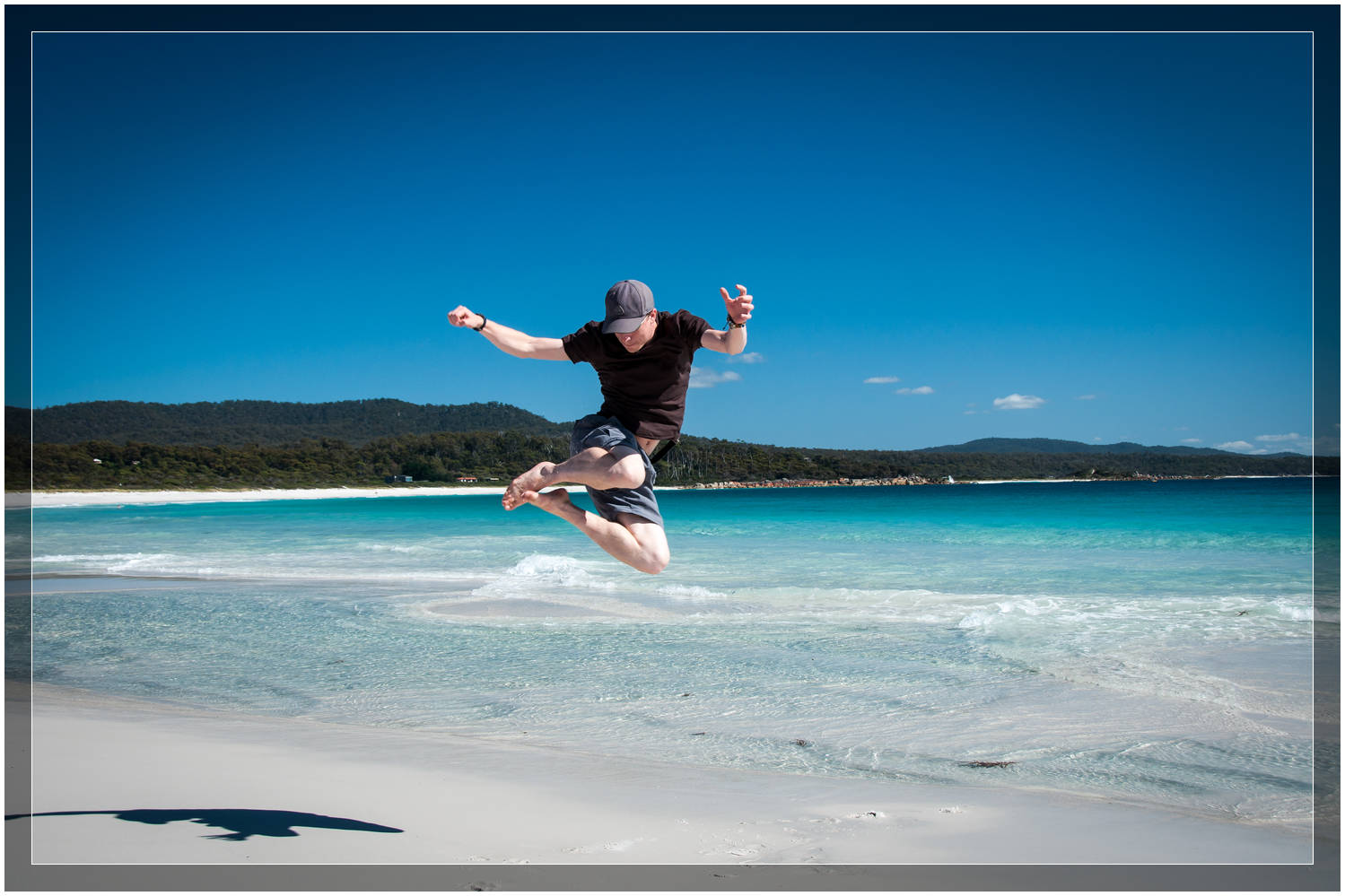 """Taking Flight Over Binalong Bay"" - Tasmania"