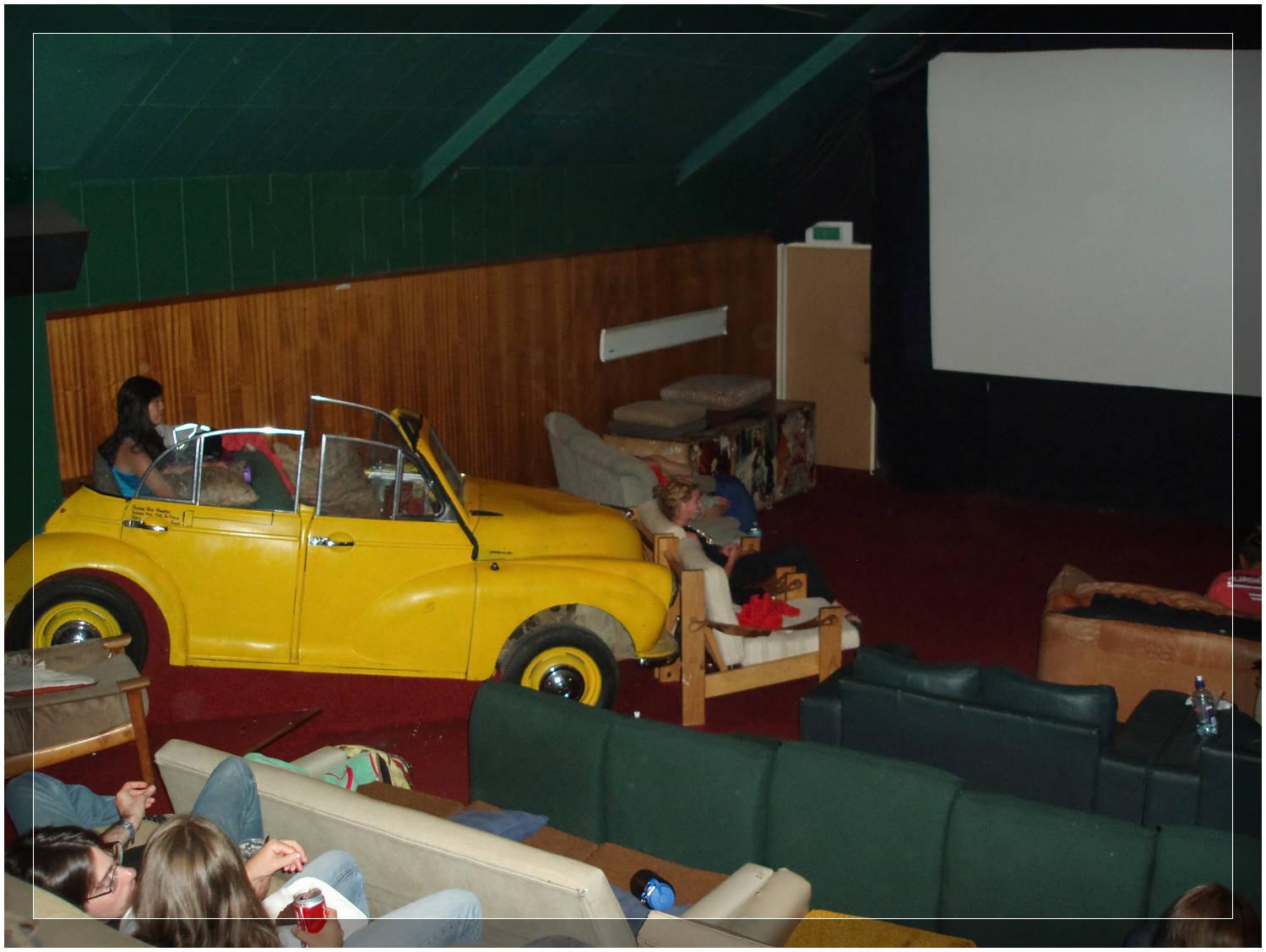 VW Bug Seating at Cinema Paradiso