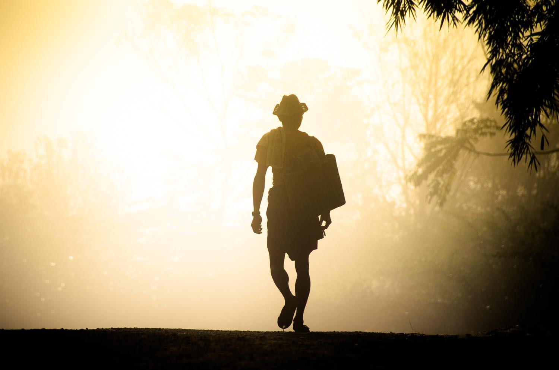 Walk into the haze. Shan State, Burma / Myanmar