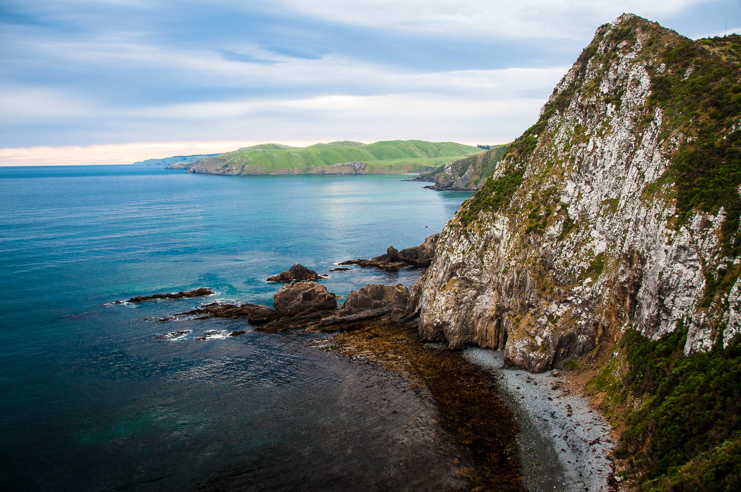 Nugget Point in the Catlins, New Zealand's rugged south coast.