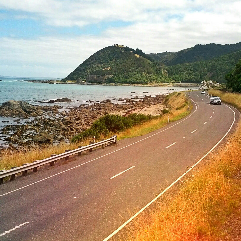 New Zealand's rocky Kaikoura Coast by rail.