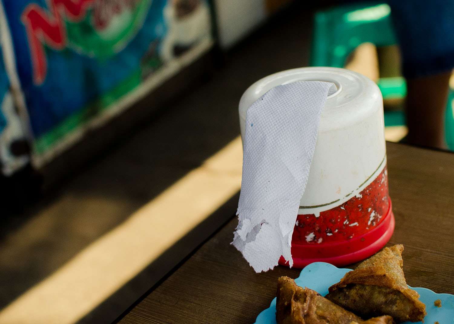 Tissue rolls for cleanup, and you might need them after eating a greasy pastry or two.  (c) Dustin Main 2013