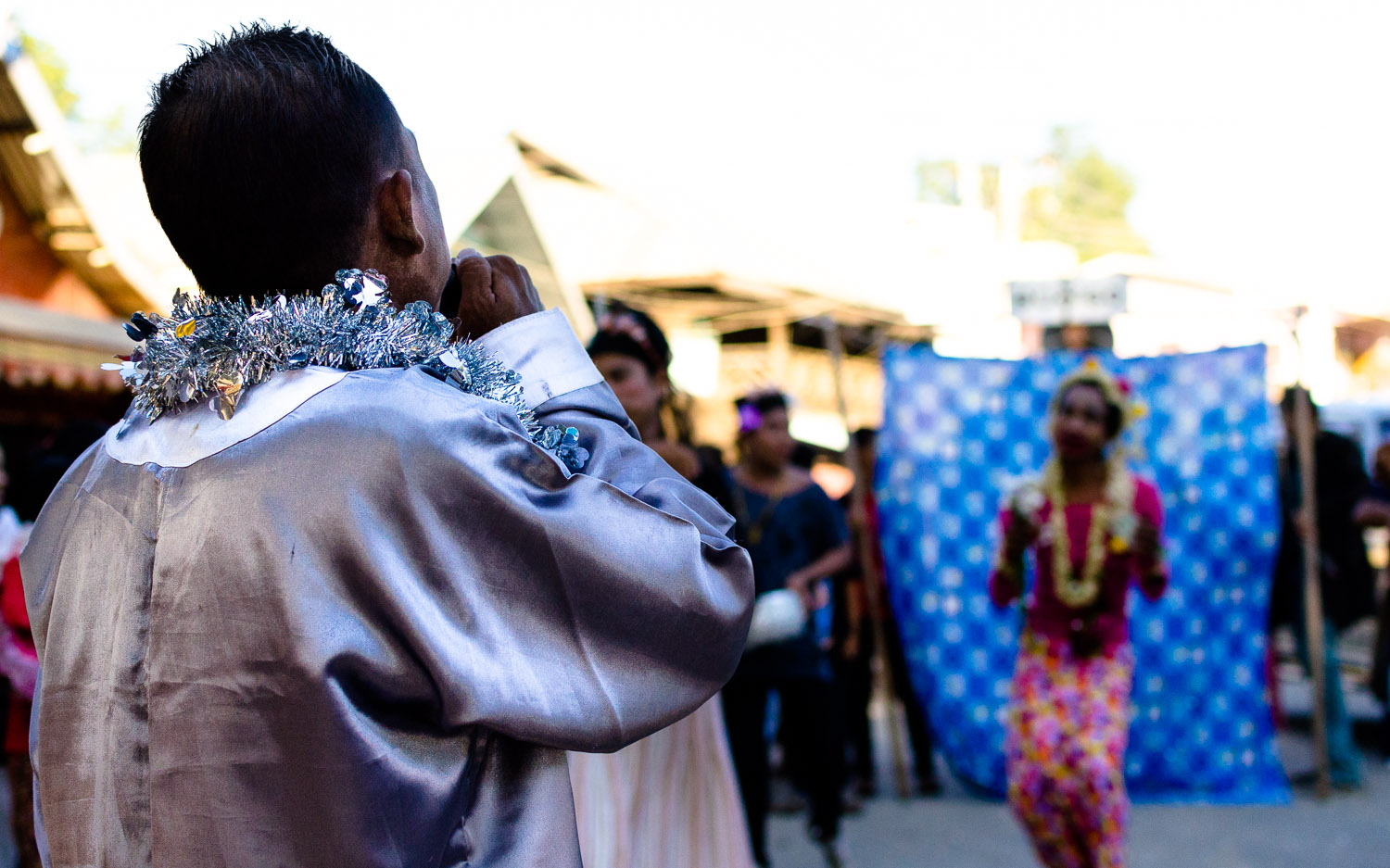 The star of the show is about to arrive.  Myanmar / Burma  © Dustin Main 2014