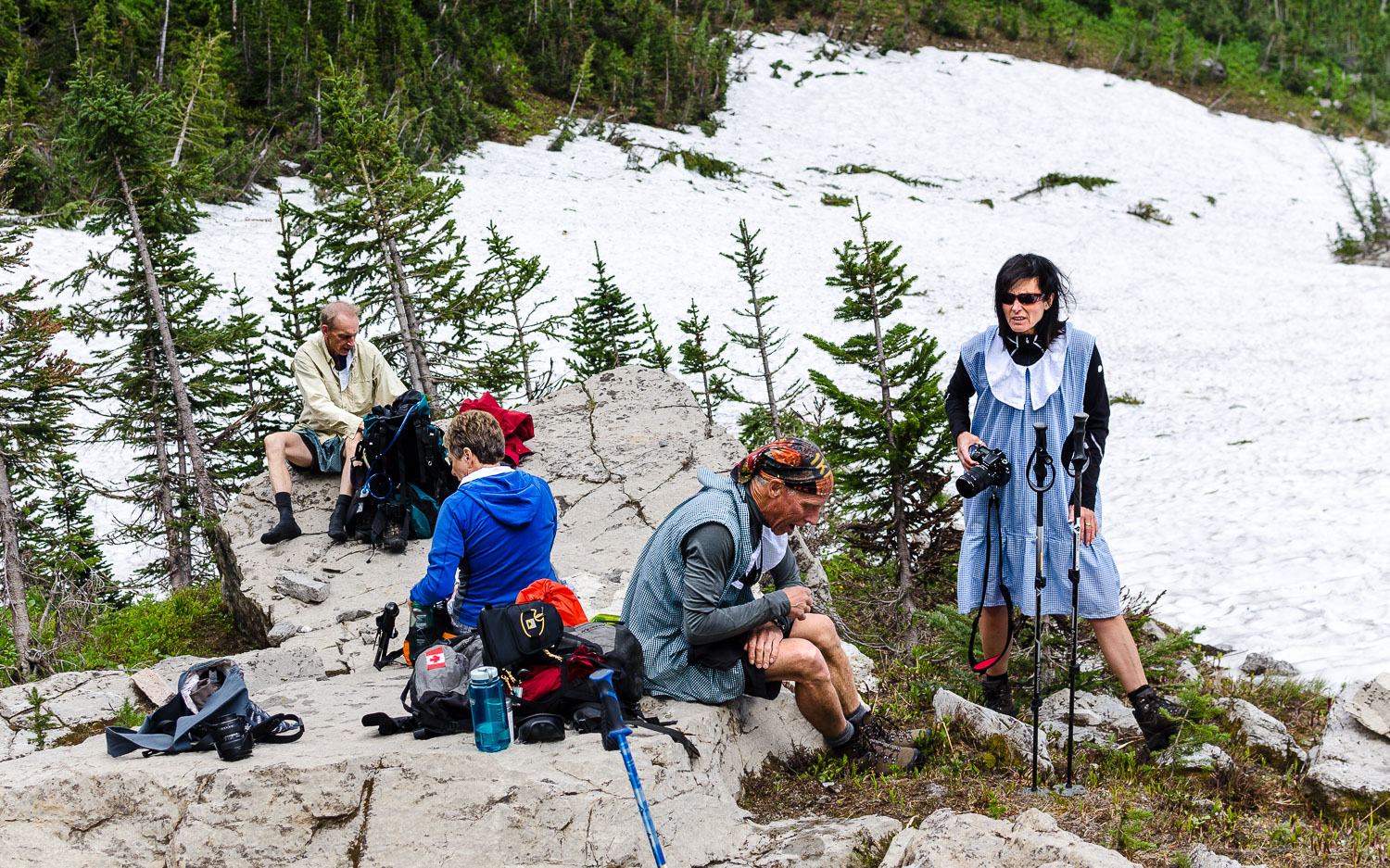 Hikers Without Pants Lunch Meeting  © Dustin Main 2014