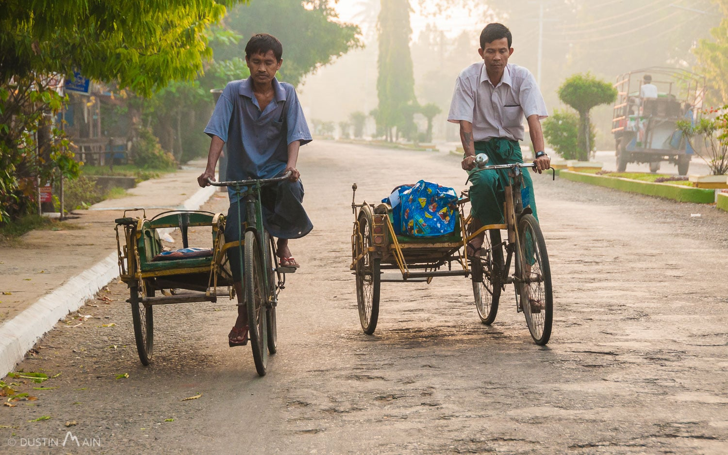 One of the slowest and least comfortable methods of transport in Myanmar, and that's saying a lot. Sittwe, Rakhine State. © Dustin Main 2014