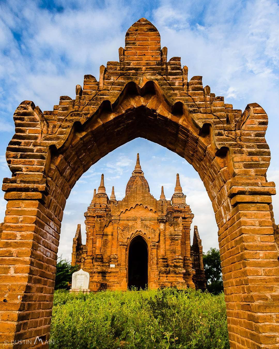 Framing pagodas in Bagan, Myanmar. © Dustin Main 2016