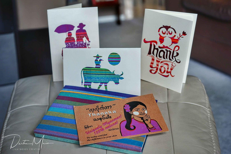 Handmade cards, postcards and journals from Pann Nann Ein. © Dustin Main 2017